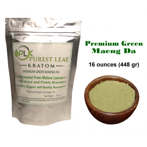 Premium Green Maeng Da Kratom Powder 1 pound (448 grams)
