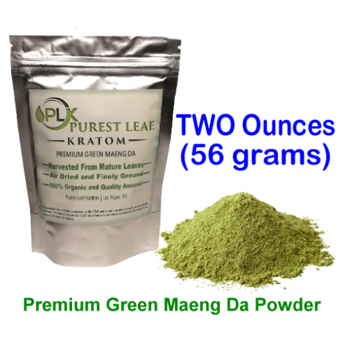 Premium Green Maeng Da Kratom Powder 2 oz pack