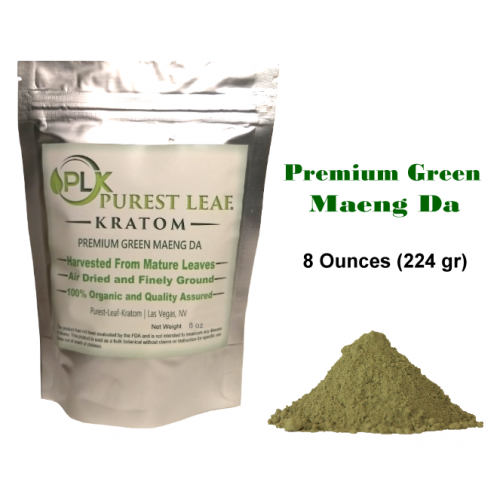 Premium Green Maeng Da Kratom Powder 8 ounces (224 grams)