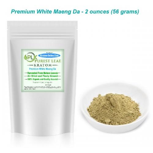 Premium White Maeng Da Kratom Powder 2 oz pack