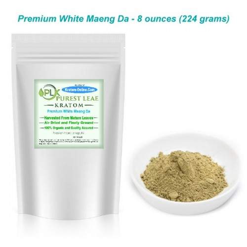 Premium White Maeng Da Kratom Powder 8 oz pack
