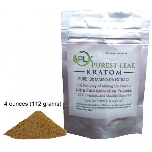 Purest Leaf 10X Maeng Da Kratom Extract FOUR ounce pack