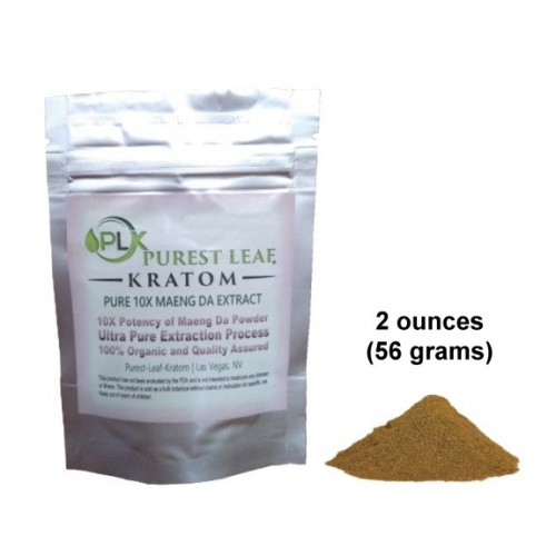 Purest Leaf Maeng Da 10X Kratom Pure Extract TWO ounce pack