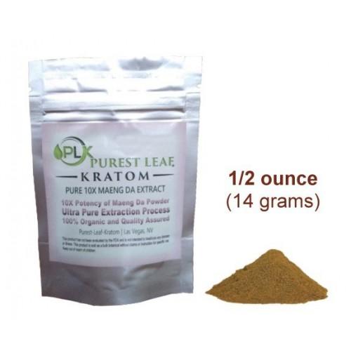 Purest Leaf Maeng Da 10X Kratom Extract 1/2 ounce pack