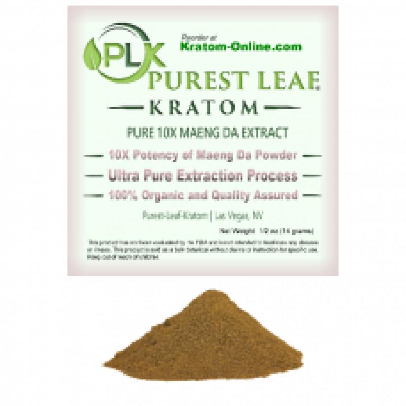 Purest Leaf Maeng Da 10X (10 to 1) Kratom Pure Ext...